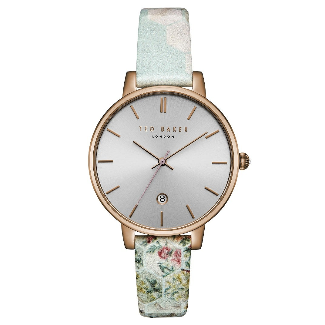 Rosegold Uhr Damen Ted Baker Kate Watch Damen Uhr - Rose Gold/silver/floral