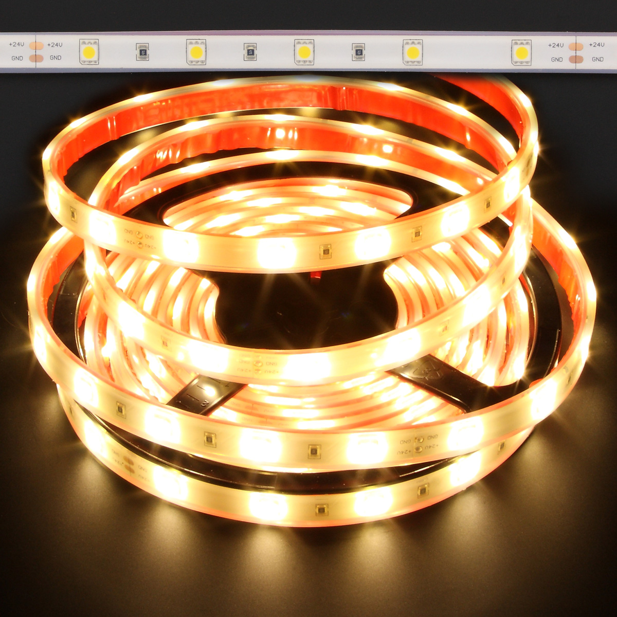Led Strip Waterproof Warm White Waterproof 5050 36w Led Strip Light 3100k
