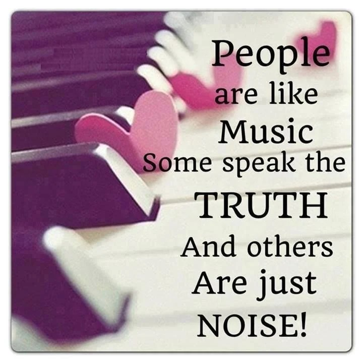 Thoughts Quotes Wallpaper People Are Like Music Some Speak The Truth And Others Are
