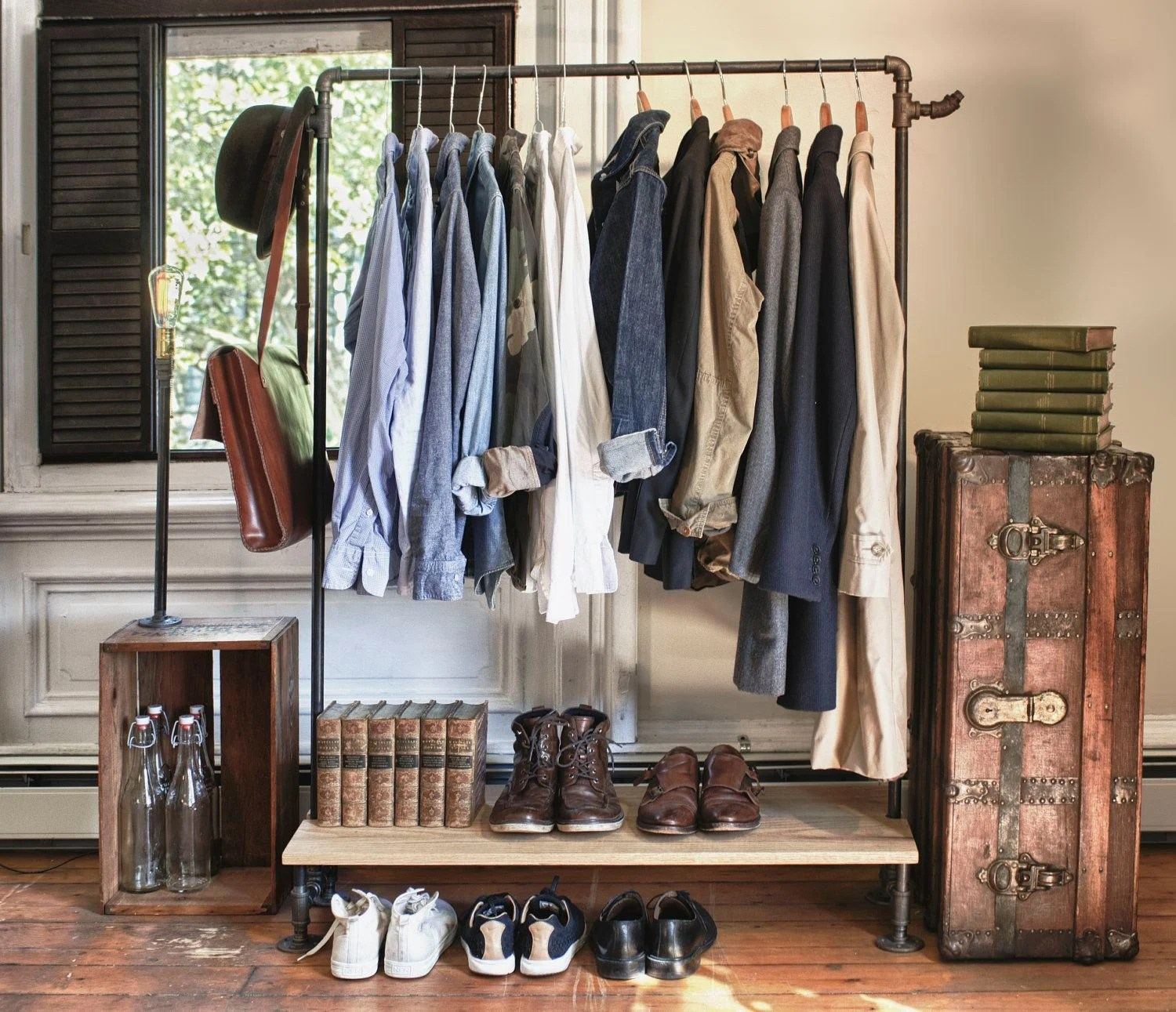 Cloth Rack 13 Ways To Make Your Room Without A Closet Work