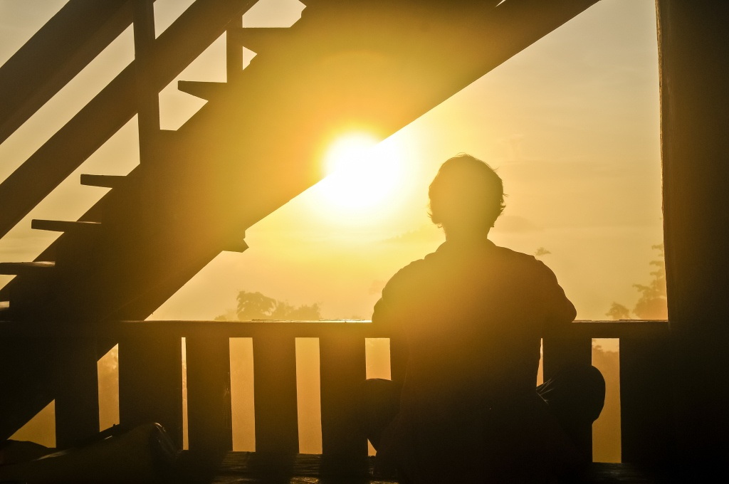 14 - Man Watching Sunrise On Balcony, Ed Gregory, Stokpic