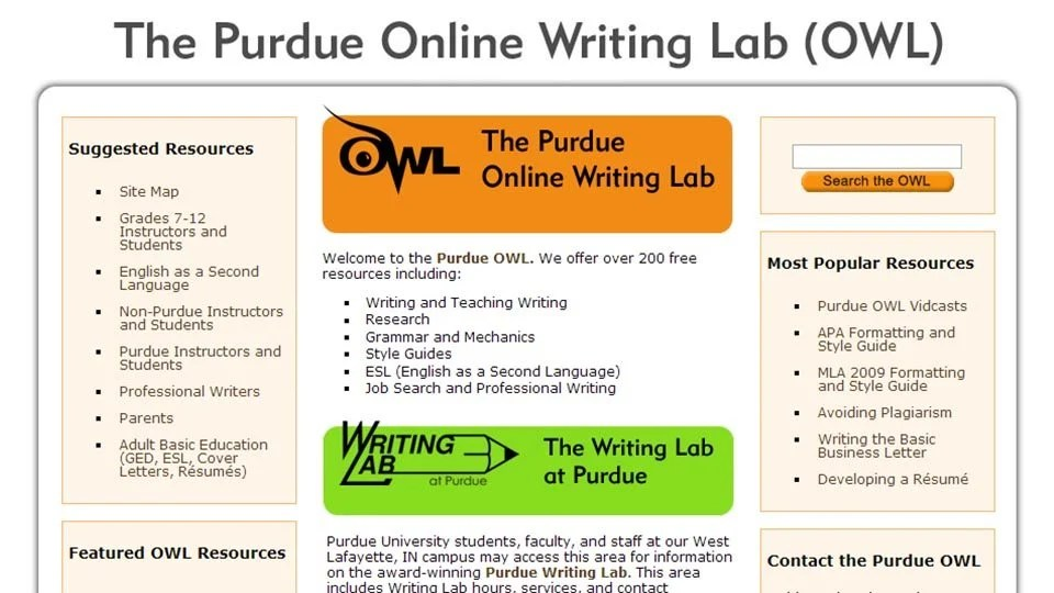 The purdue university online writing lab \/ Ssays for sale - purdue owl resume