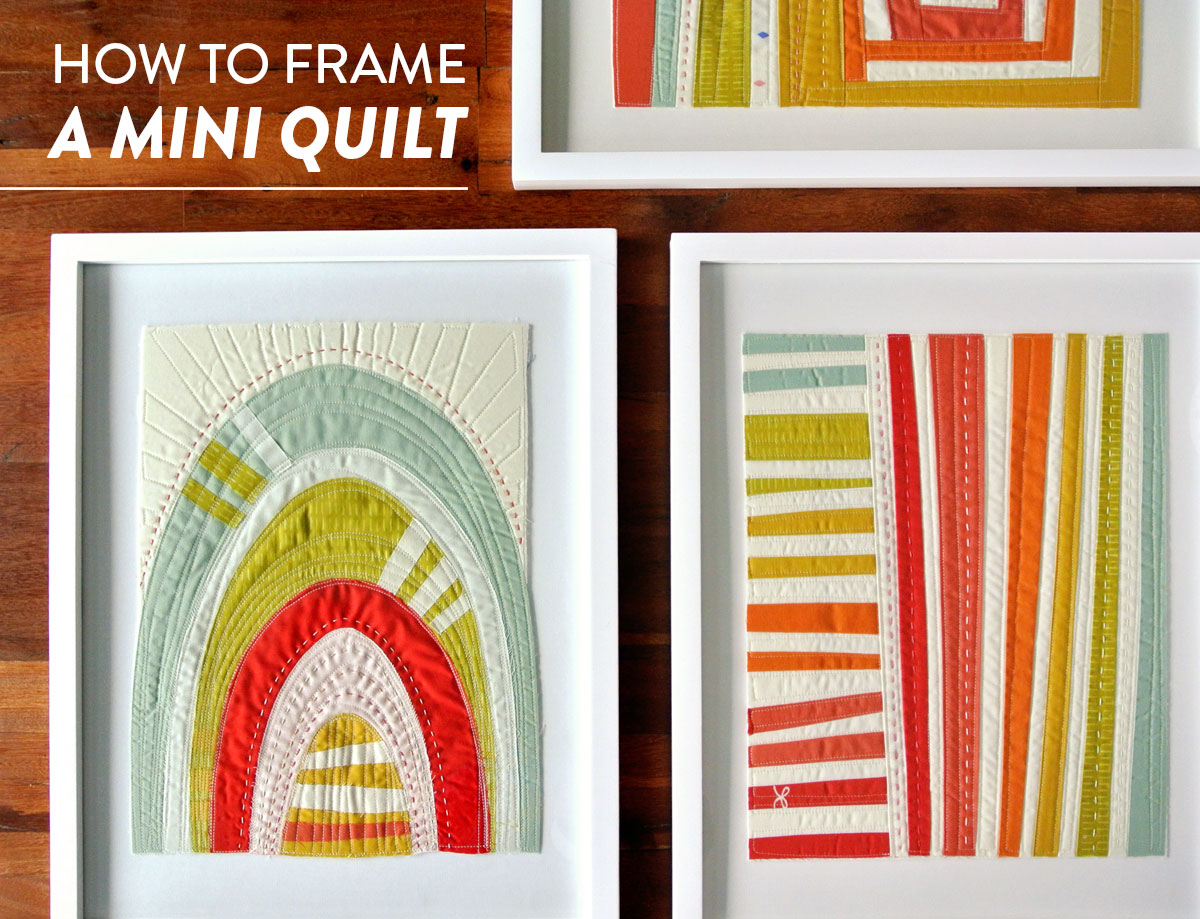 How To Frame Pictures How To Frame A Mini Quilt Suzy Quilts