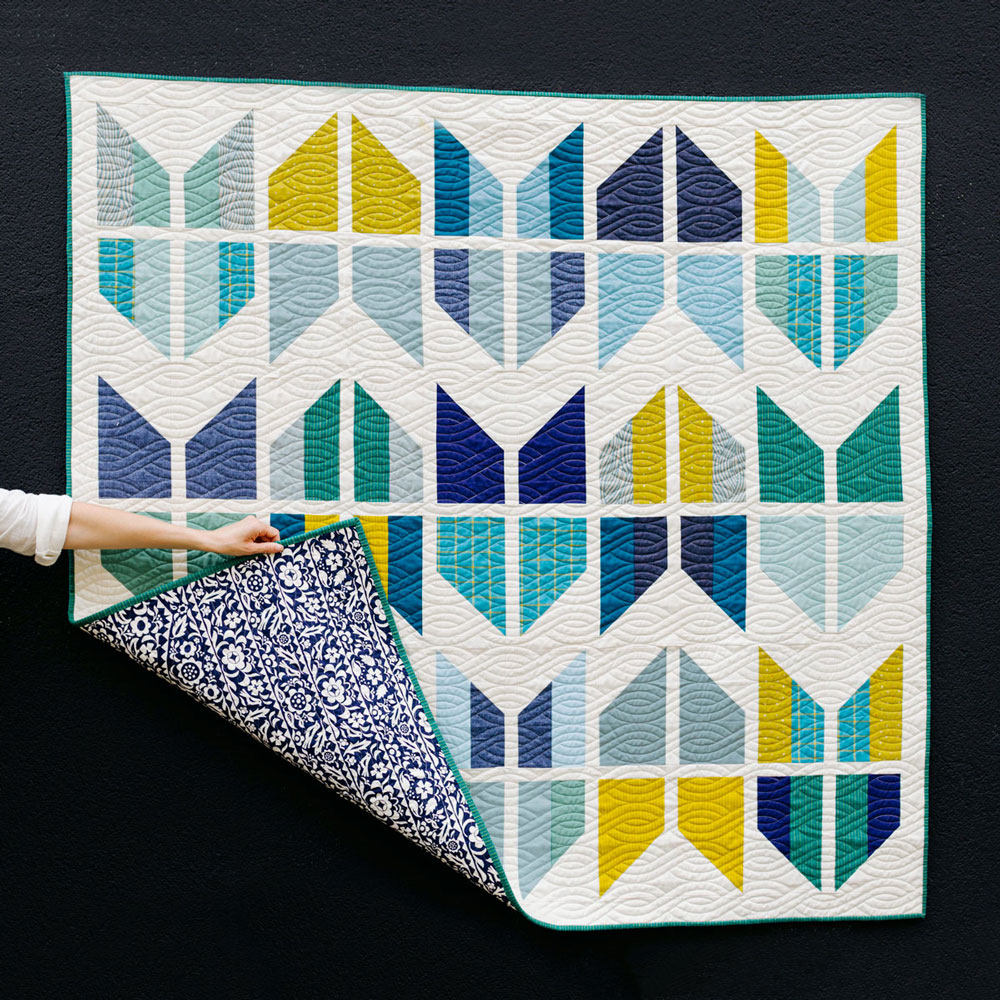 Baby Quilts.com Tail Feather Quilt Pattern Grab Some Fat Quarters Suzy Quilts