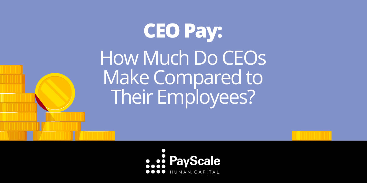 CEO Pay Ratios, Stats and Infographics PayScale