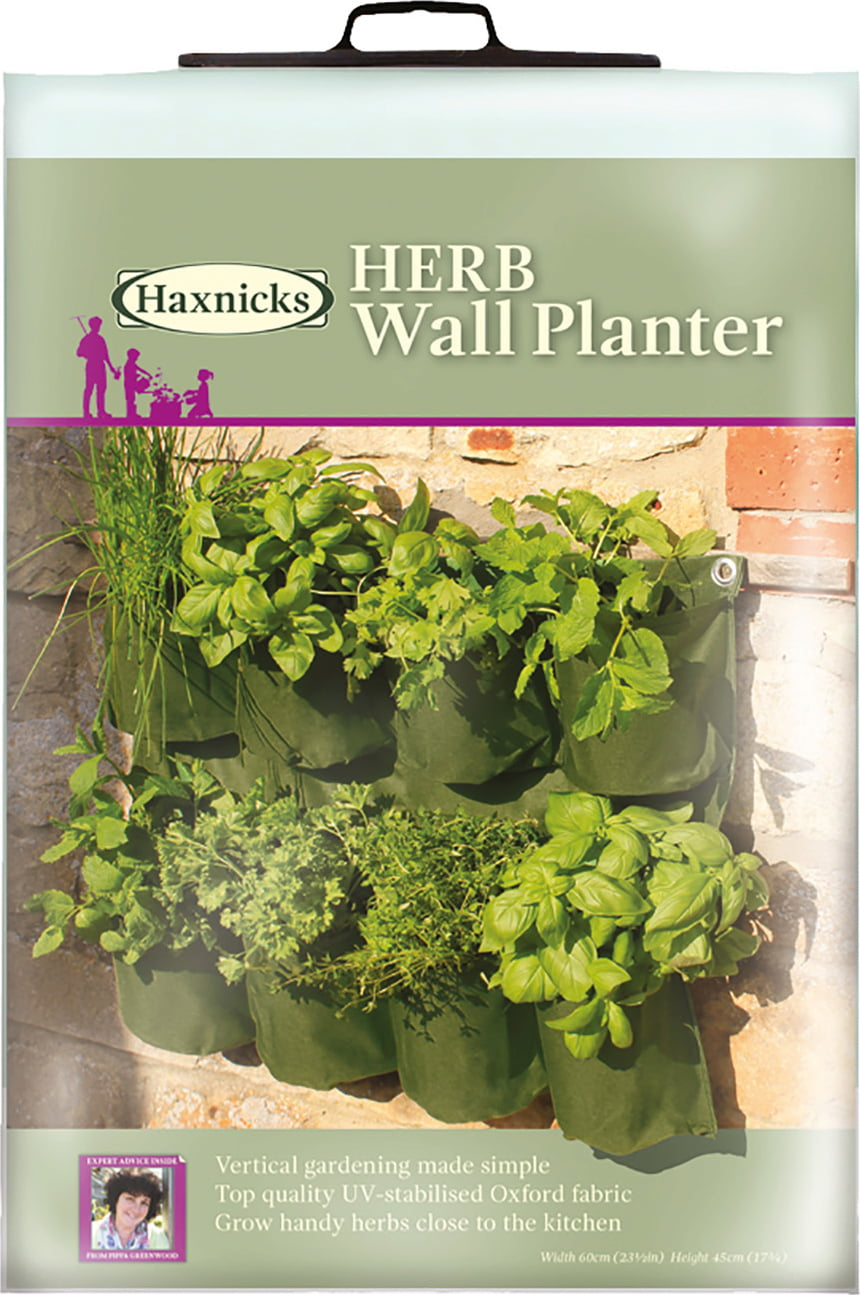 Planter For Herbs Haxnicks Herb Wall Planter