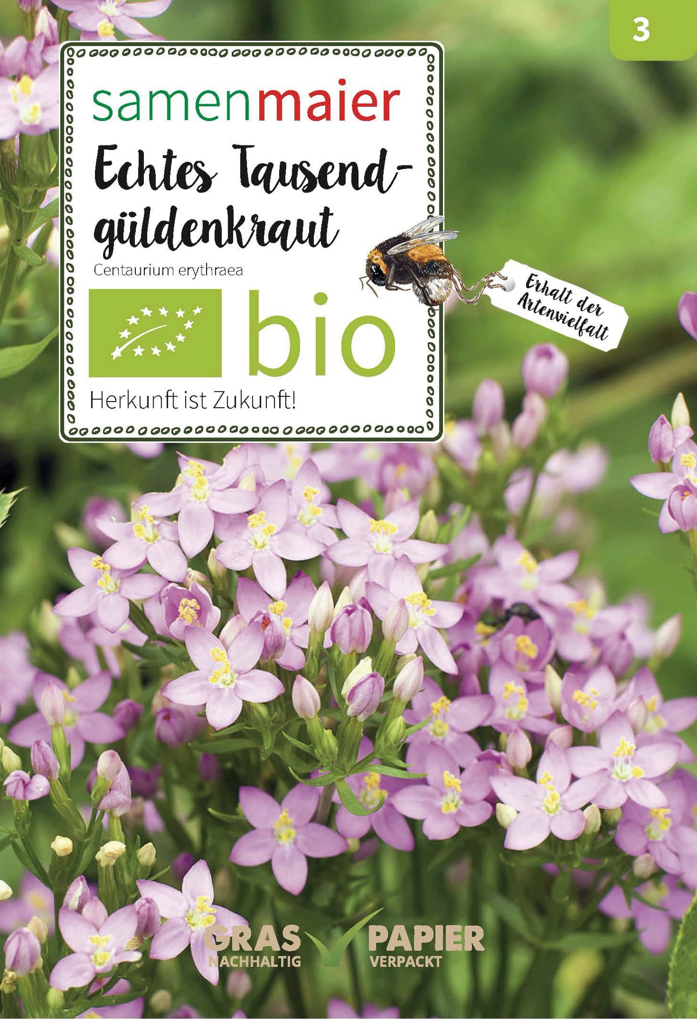 Cosmea Samen Samen Maier Organic Wildflower Centaury, 1 Package - Bloomling International