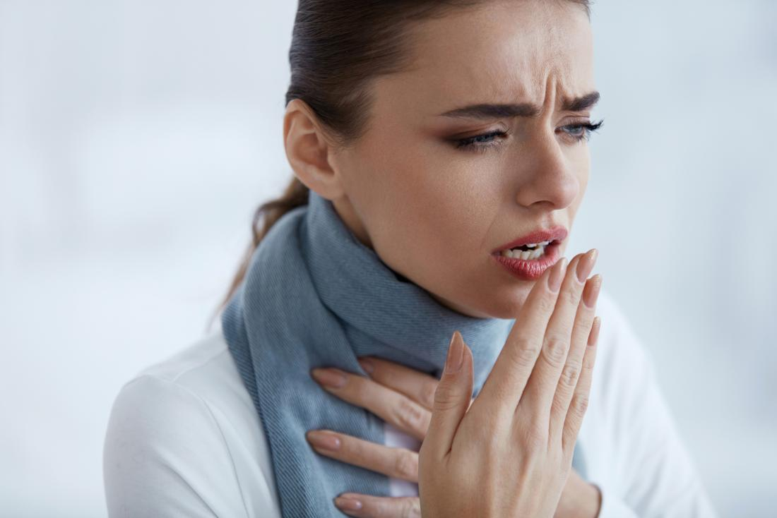 woman with cough wondering if its caused by asthma or bronchitis