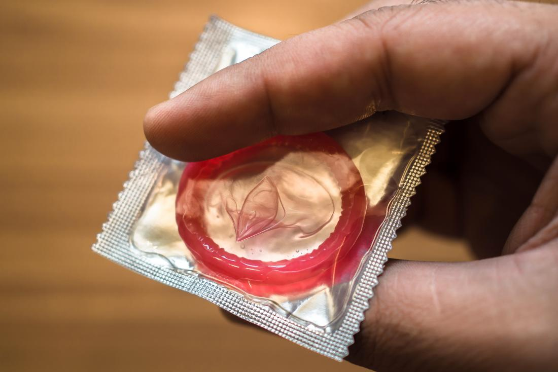 a condom which may cause an allergic reaction to