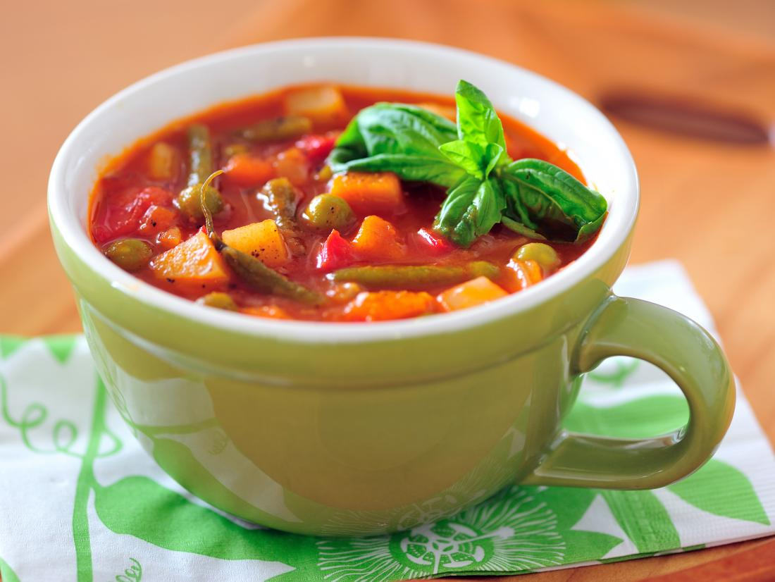 a cup of soup