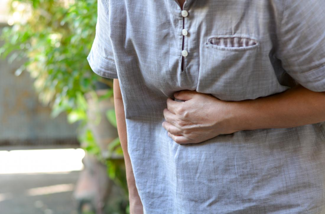 a person experiencing nausea due to lithium toxicity
