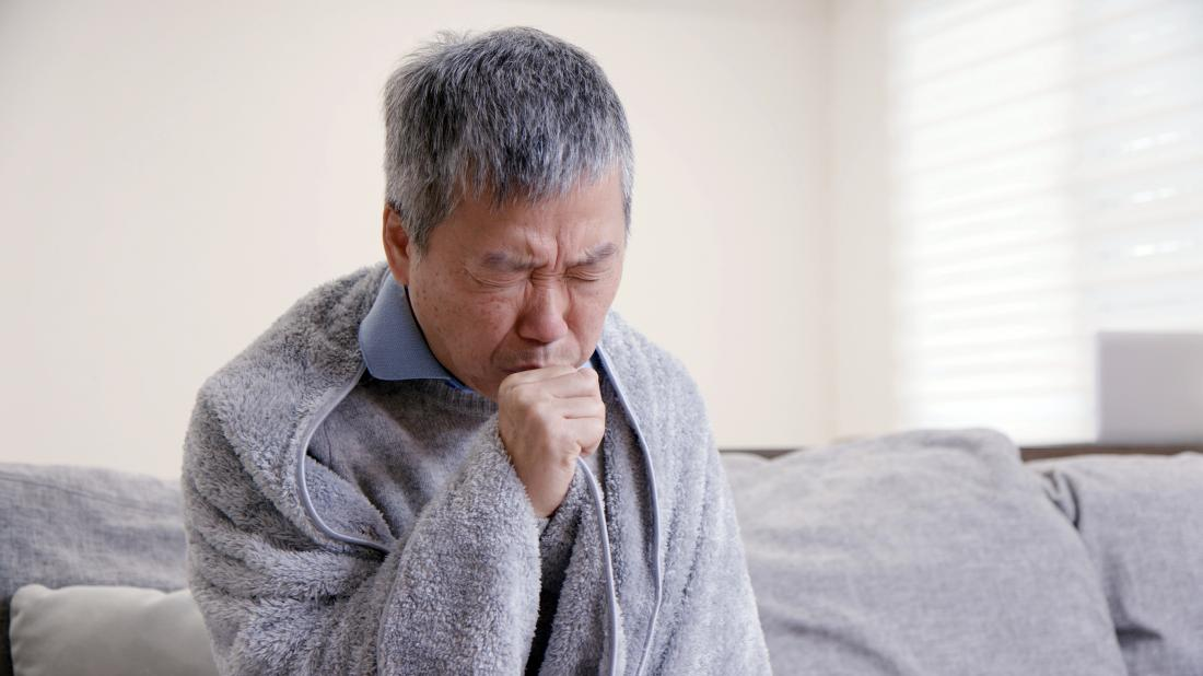 a man with copd coughing