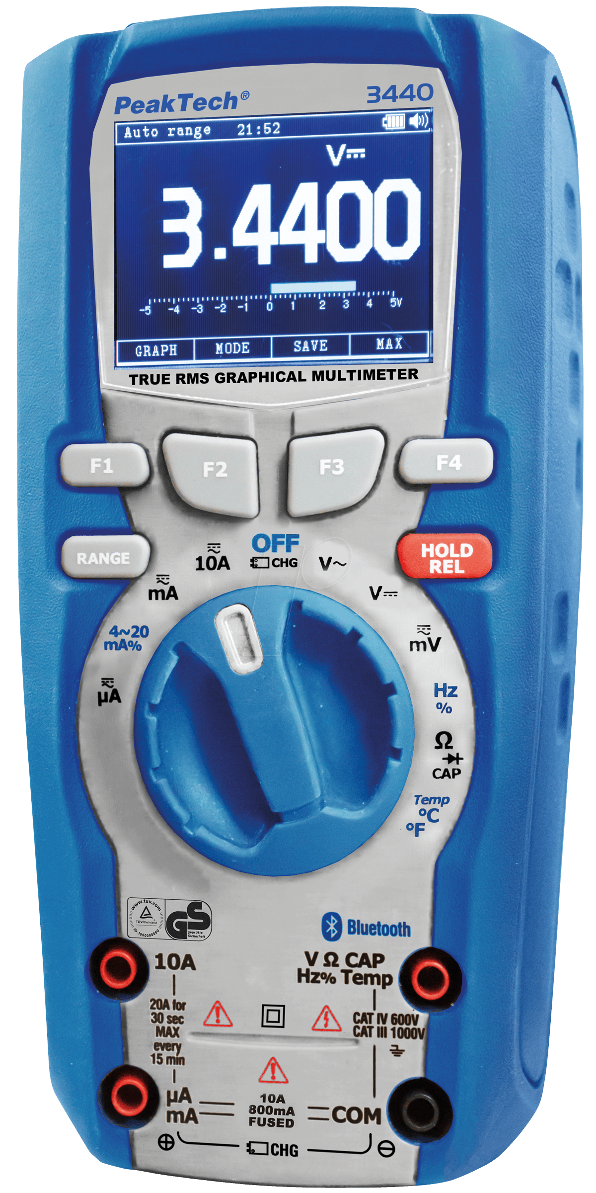 Pc Arbeitsplatz Peaktech 3440: Multimeter, Digital, 49999 Counts, Grafisch