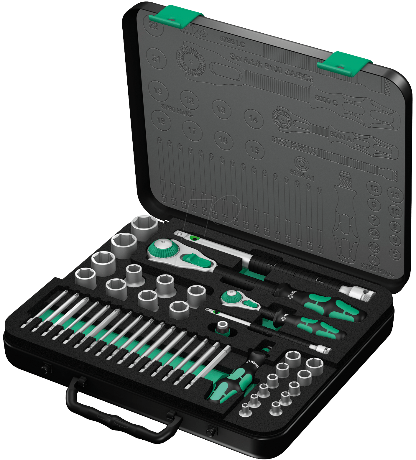 7 Gatenzaag Wera 8100 Sasc2 Zyklop Socket Set 1 4 4312 Drive At