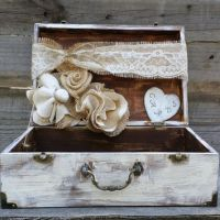 Rustic Wedding Card Box, Personalized from ...