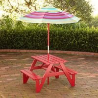 Kids Picnic Table & Umbrella | Outdoor from Cost Plus World