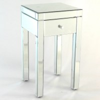 Designers Choice Beveled Mirror End Table from