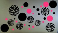 Zebra Print Dots Wall Decal from BigDDesign on Etsy | For the