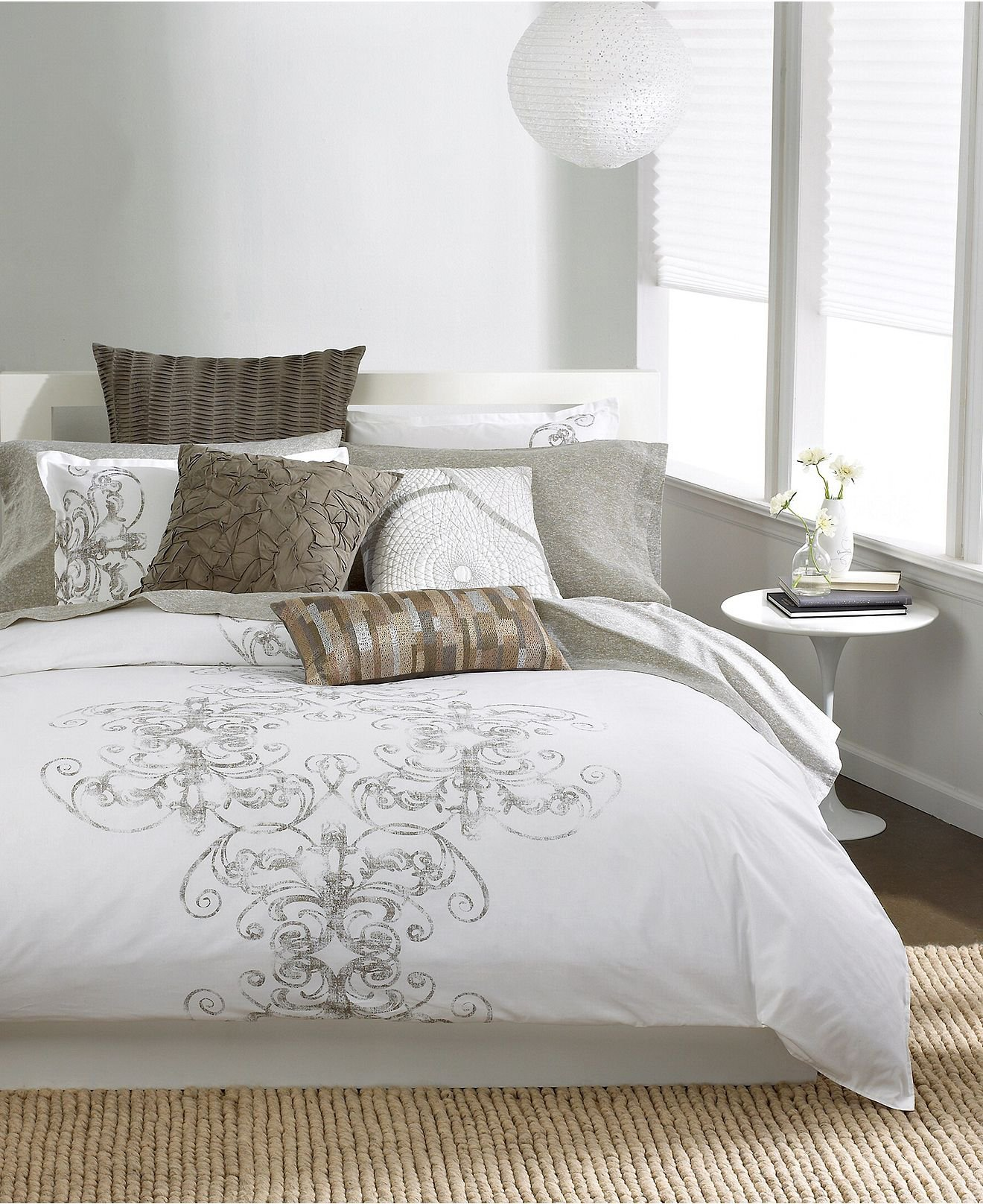 Classic Bedding Bar Iii™ Bedding, Vintage Scroll Twin From Macy's