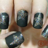 flat black nail polish (with stars) from 2.bp.blogspot.com