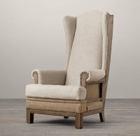 Deconstructed High Wingback Chair from Restoration Hardware