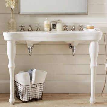 Parisian Pedestal Double Sink Console From Pottery Barn