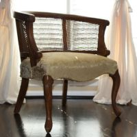 vintage Barrel back cane chair: Mid from BrownDogEmporium ...