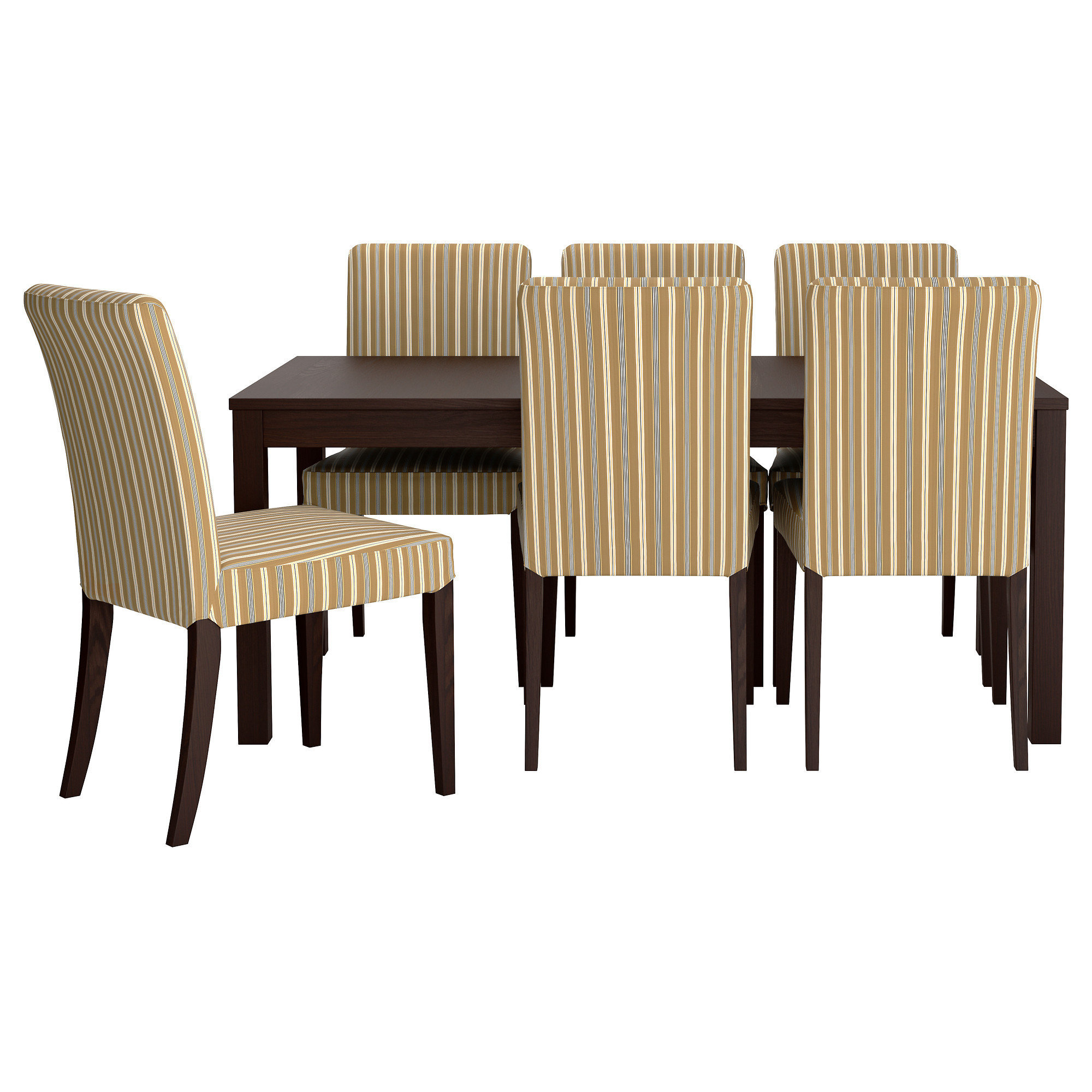 Black Dining Chairs Ikea Bjursta Henriksdal Table And 6 Chairs From Ikea Apartment