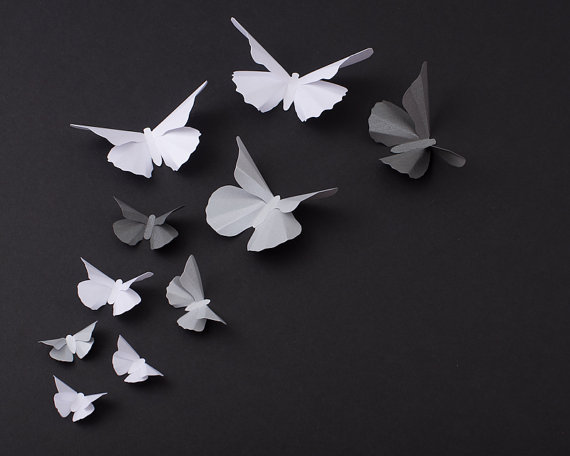 3D Butterfly Wall Art: 20 Metallic from hipandclavicle on Etsy