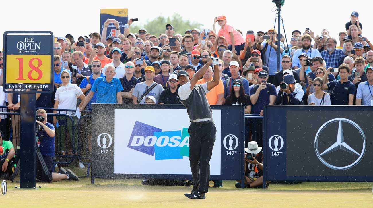 tiger woods british open 2018 results for all american