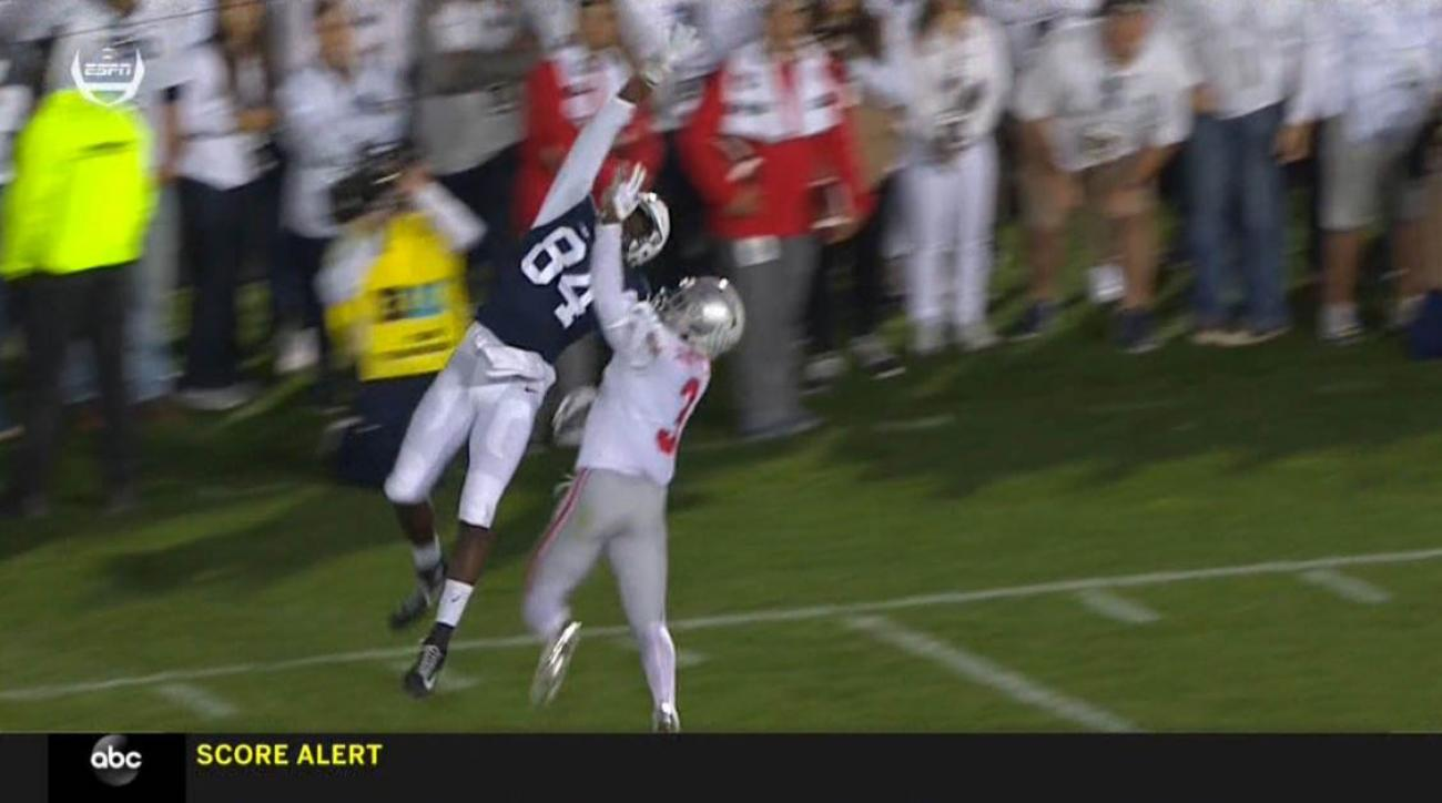 Ohio State Score Penn State S Juwan Johnson Makes Crazy One Handed Catch Video