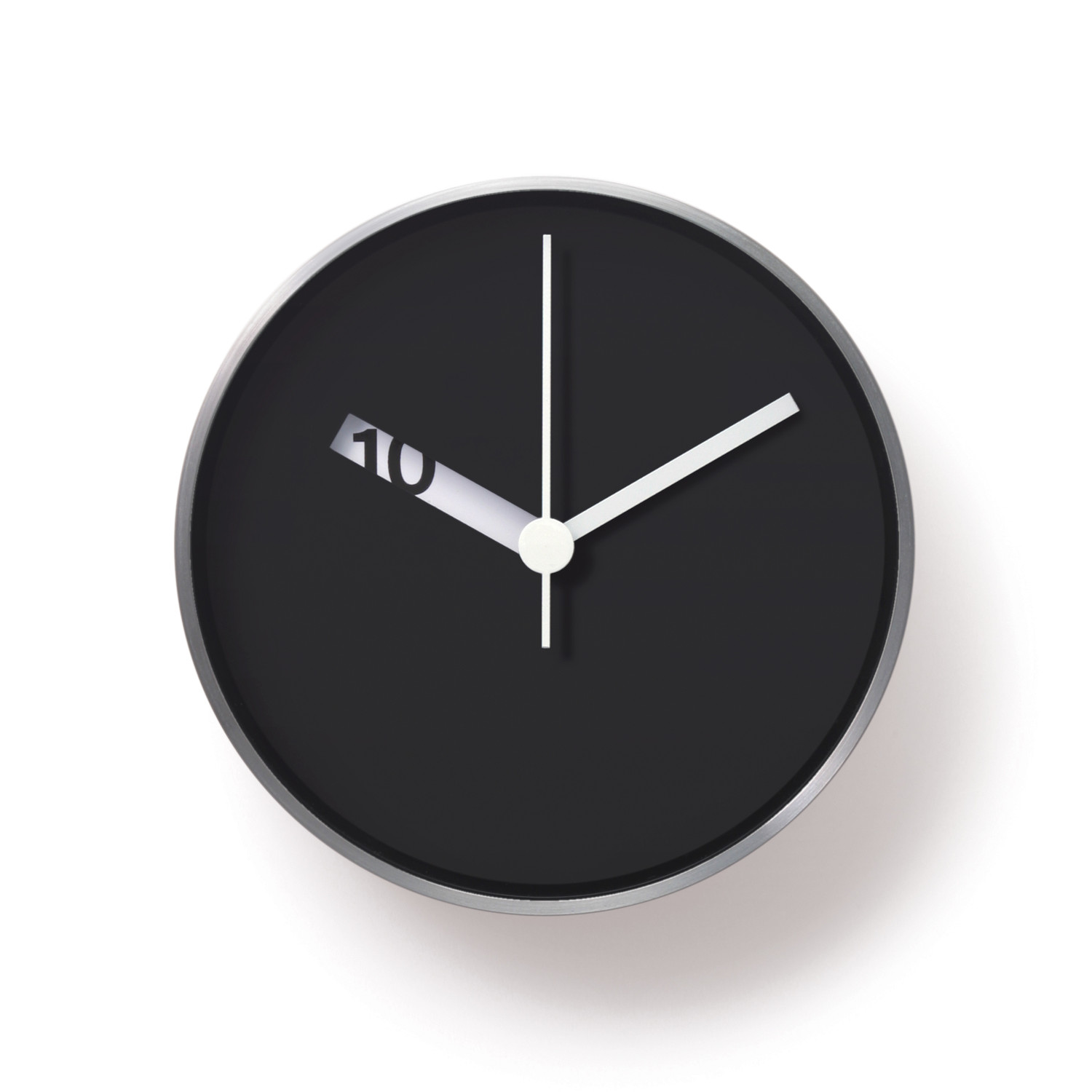 Black Modern Wall Clock Extra Normal Wall Clock Black Face Normal Timepieces