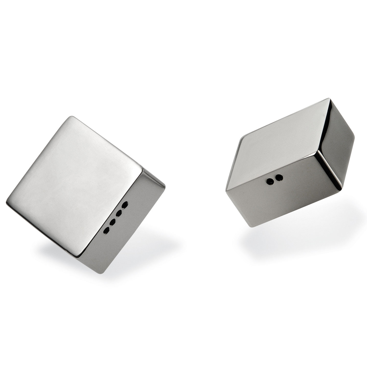 Modern Salt Pepper Shakers Murazzo Square Salt Pepper Shaker Set Riva Tableware Touch