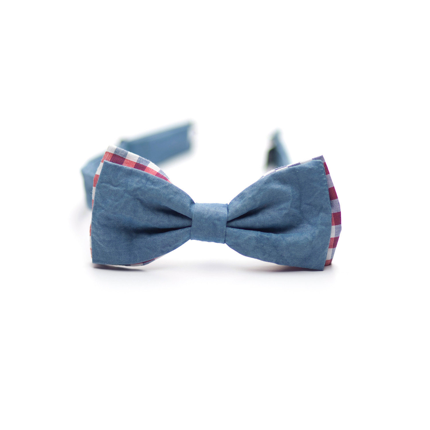 Big W Bow Tie Denim Bow Tie Big Blue 43 Red Check Untitledsince Now