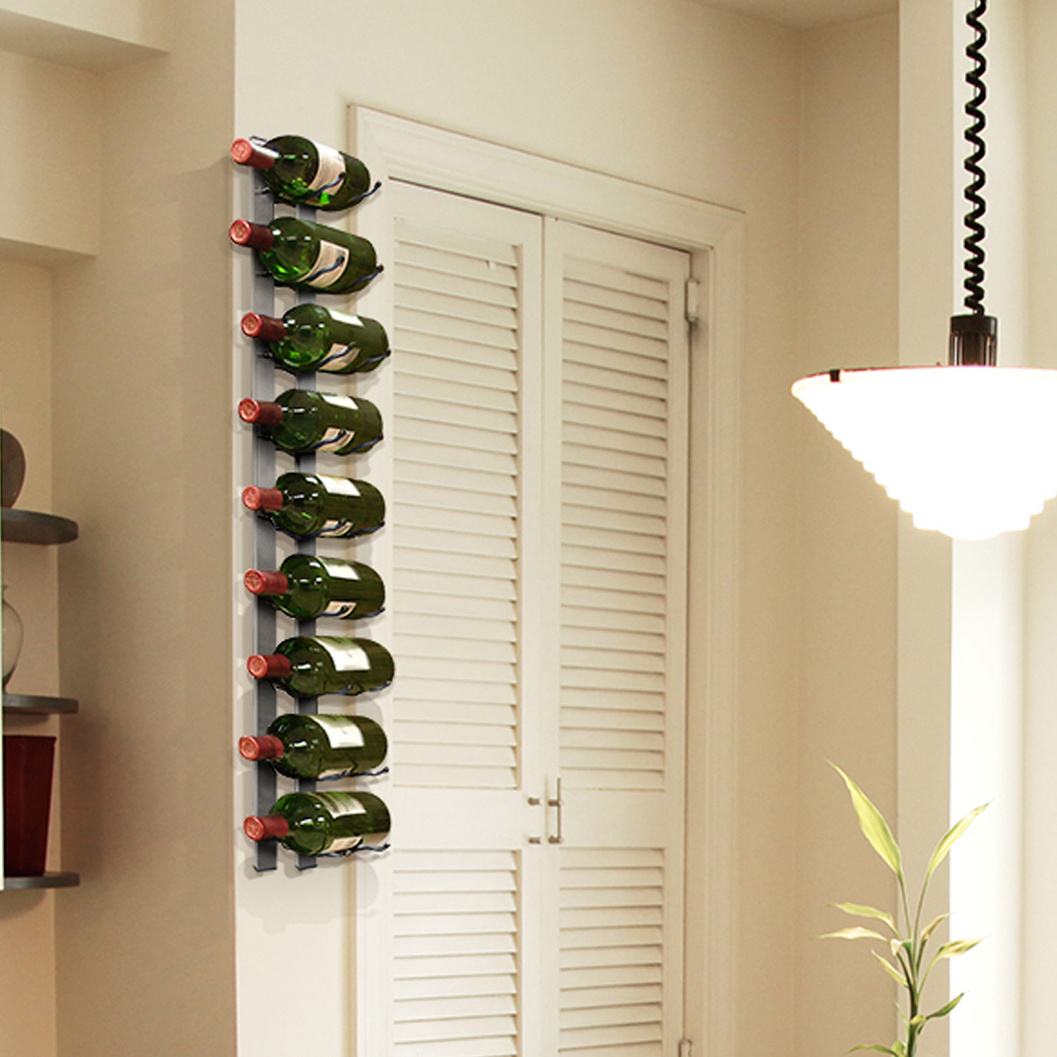 Long Wall Wine Rack Wall Mounted Wine Rack 9 Bottles Epicureanist Touch