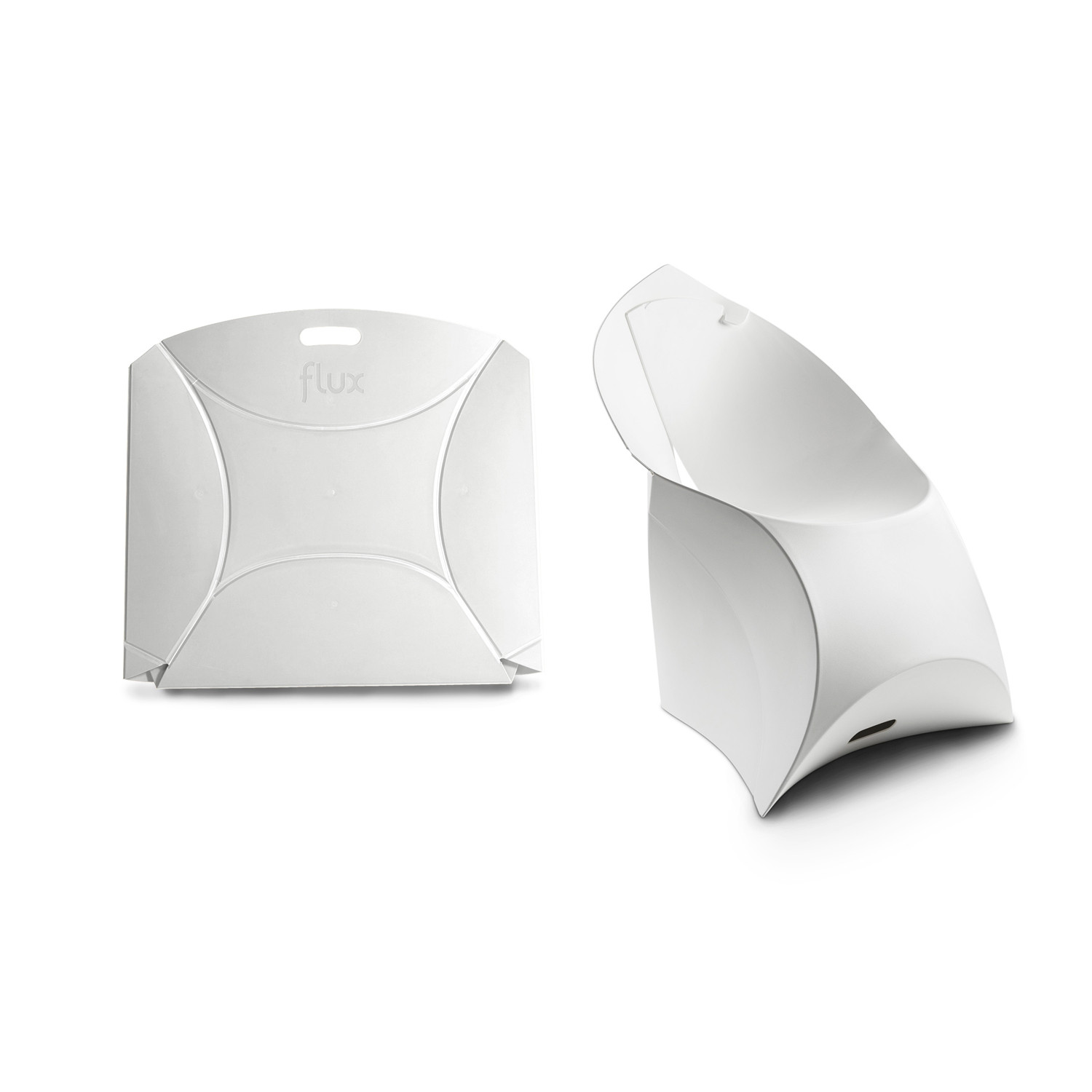 Silla Flux Flux Chair Pure White Flux Touch Of Modern