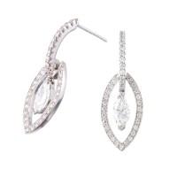 Modern Bridal Marquise Diamond Earrings - Fourtane Estate ...