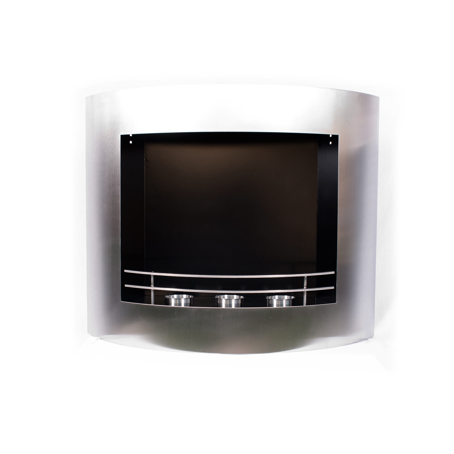 Stainless Steel Fireplace Wall Mounted Curved Fireplace Stainless Steel Utopia