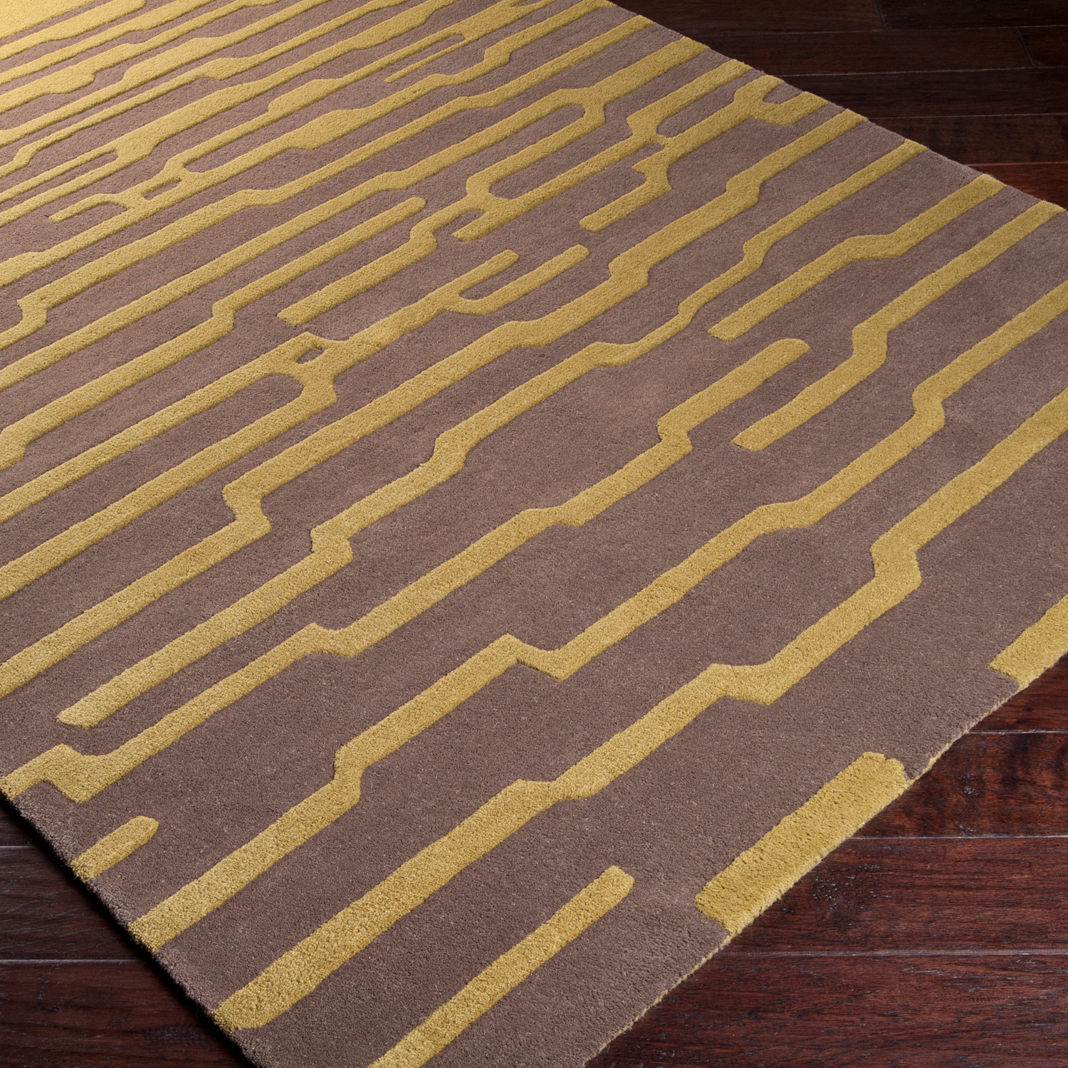 Hessian Rugs Harlequin Taupe Olive 5 X 8 Surya Rugs Touch Of Modern