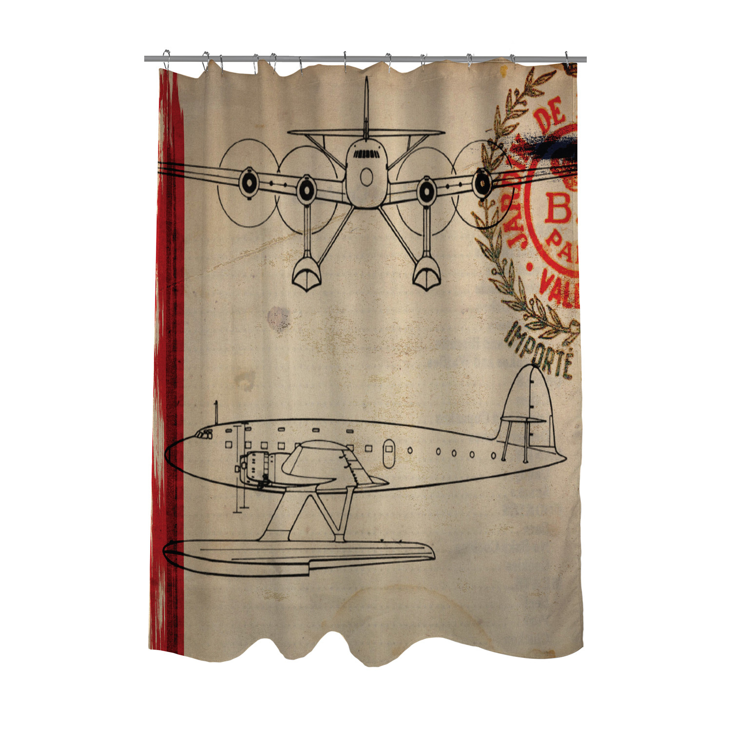 Air Curtain Shower Air Espagne France 1946 Shower Curtain Oliver Gal Touch Of