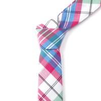 Plaid Tie + Pocket Square // Blue + Pink + Green - Skinny ...