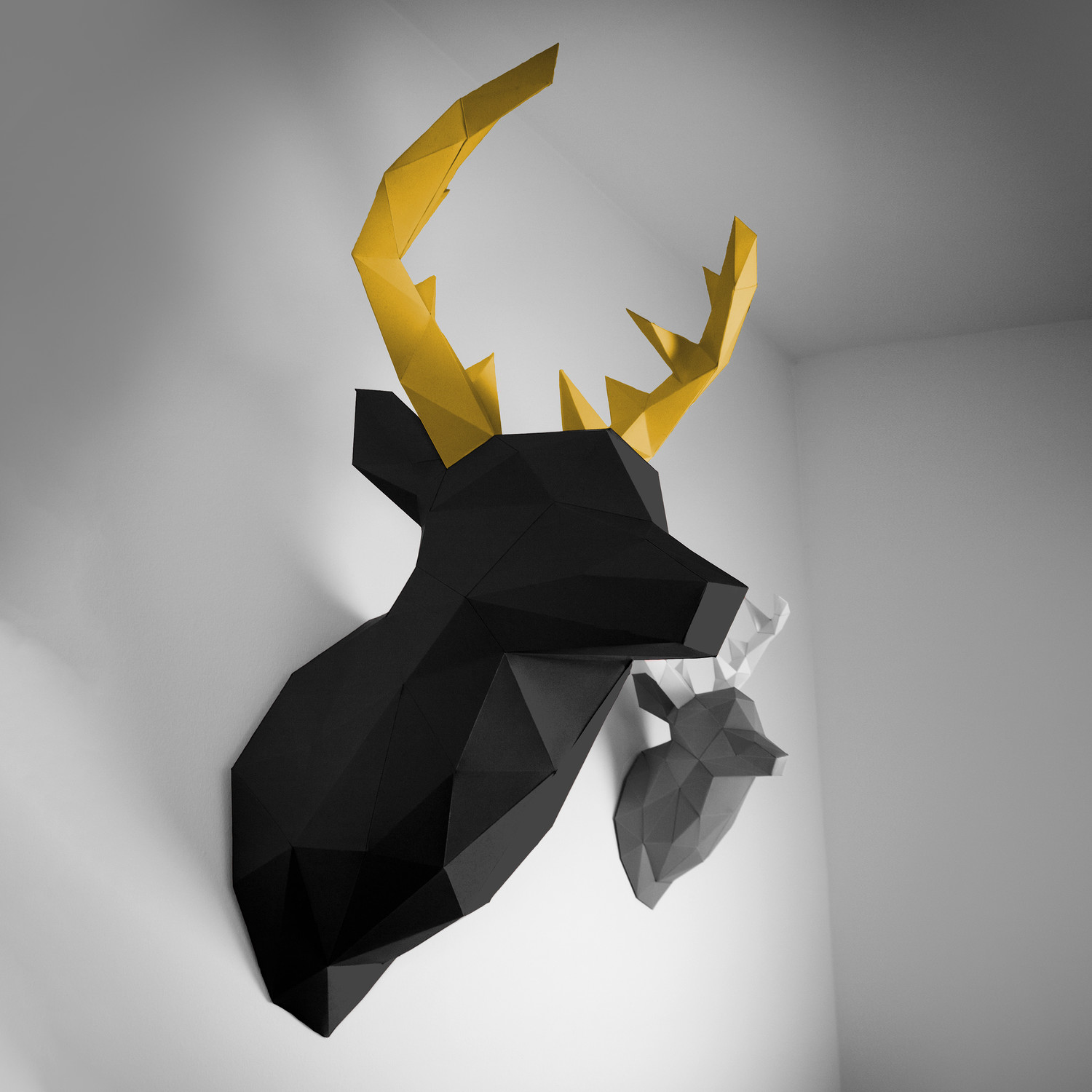Papertrophy Deer Xl Black 43 Gold Papertrophy Touch Of Modern