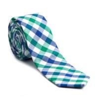Checkered Skinny Tie // Green + Blue - Skinny Tie Madness ...