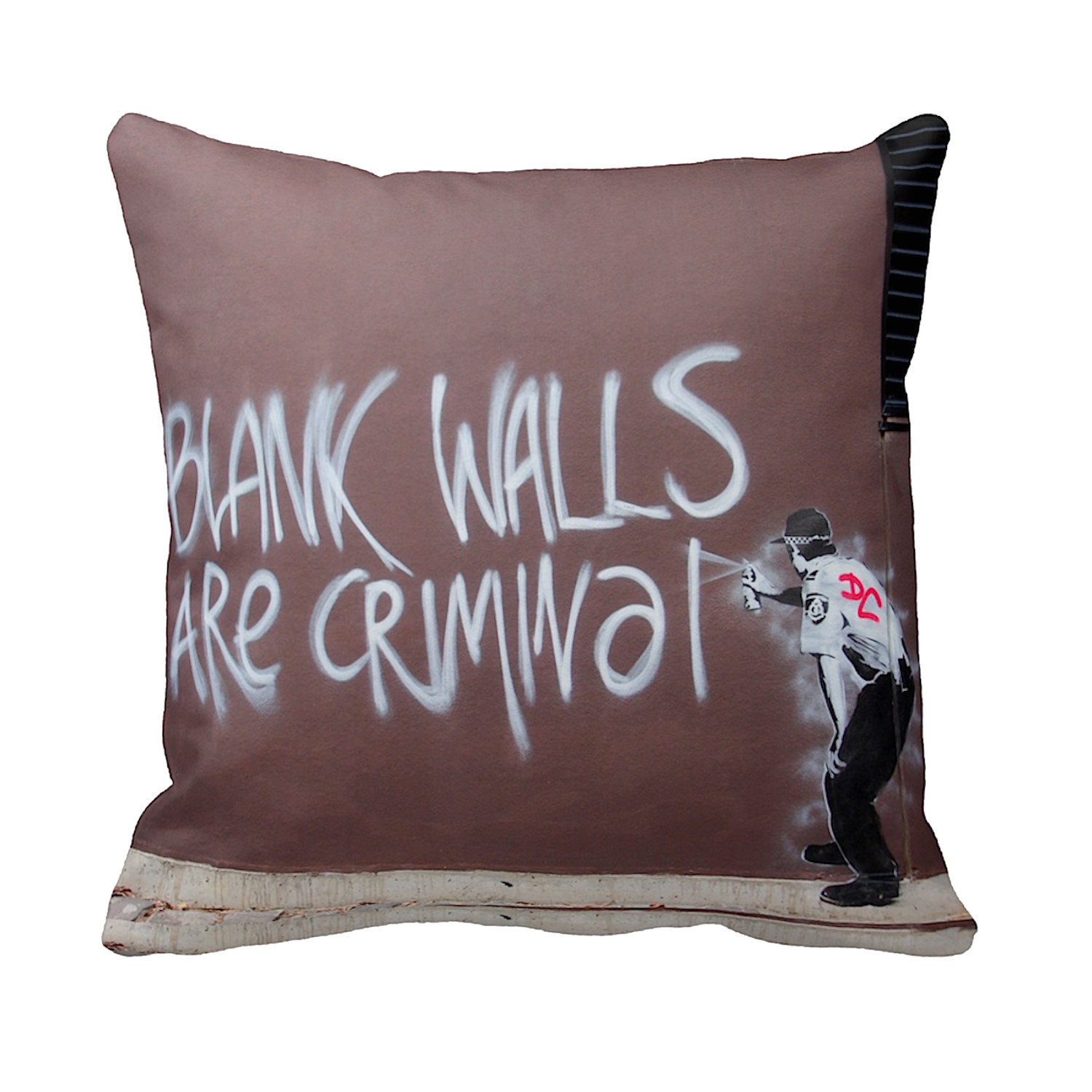 Pillows Melbourne Blank Walls Are Criminal Melbourne Banksy Pillows Touch Of Modern