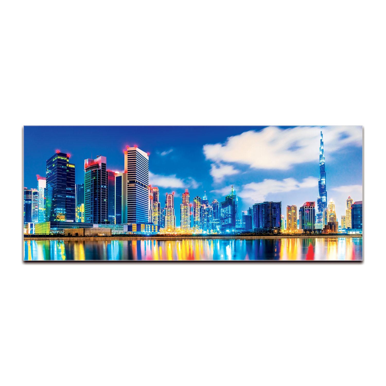 Dubai At Night Skyline Reverse Printed Acrylic City Skylines Touch Of Modern