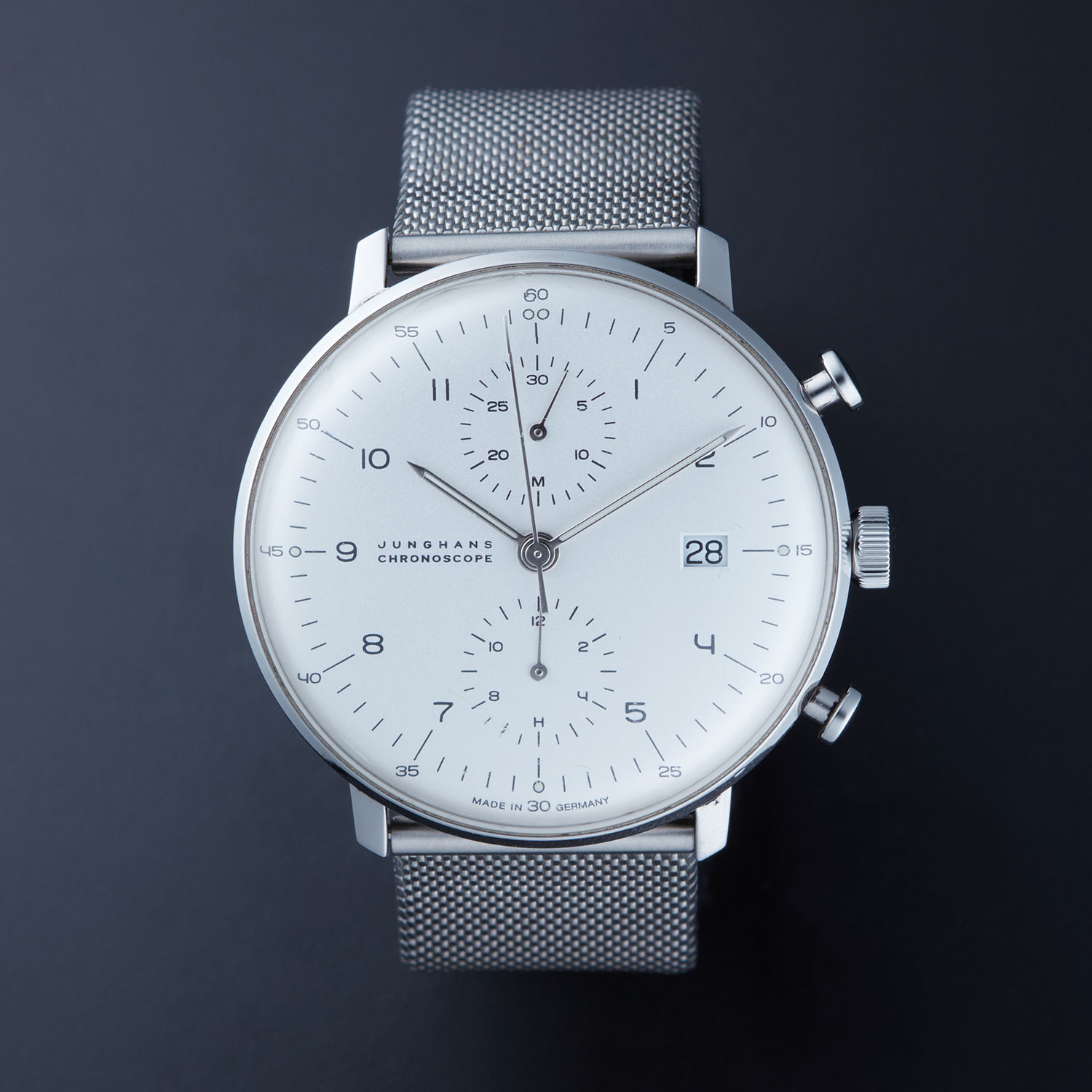 Max Bill Automatic Junghans Max Bill Chronoscope Automatic 27 4003 Pre Owned