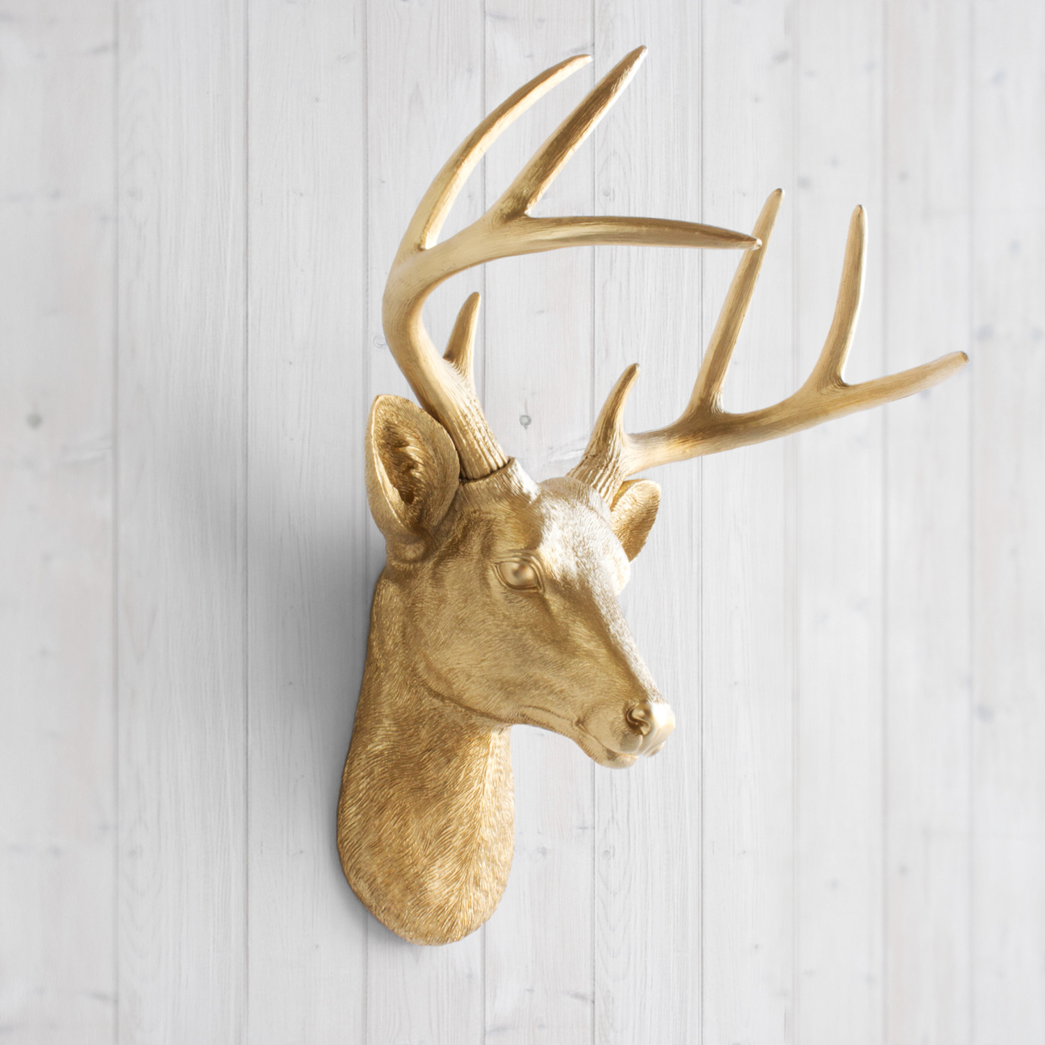 Faux Stag Head The Virginia Faux Deer Head White Wall Charmers