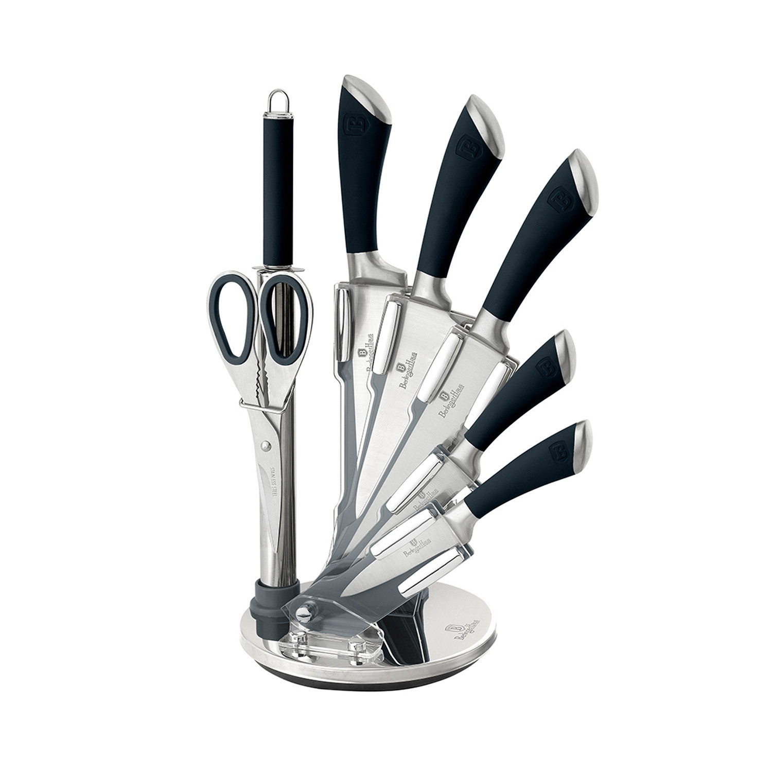 Standing Knife Flatware Infinity Collection 7 Piece Set 43 Knife Stand Silver
