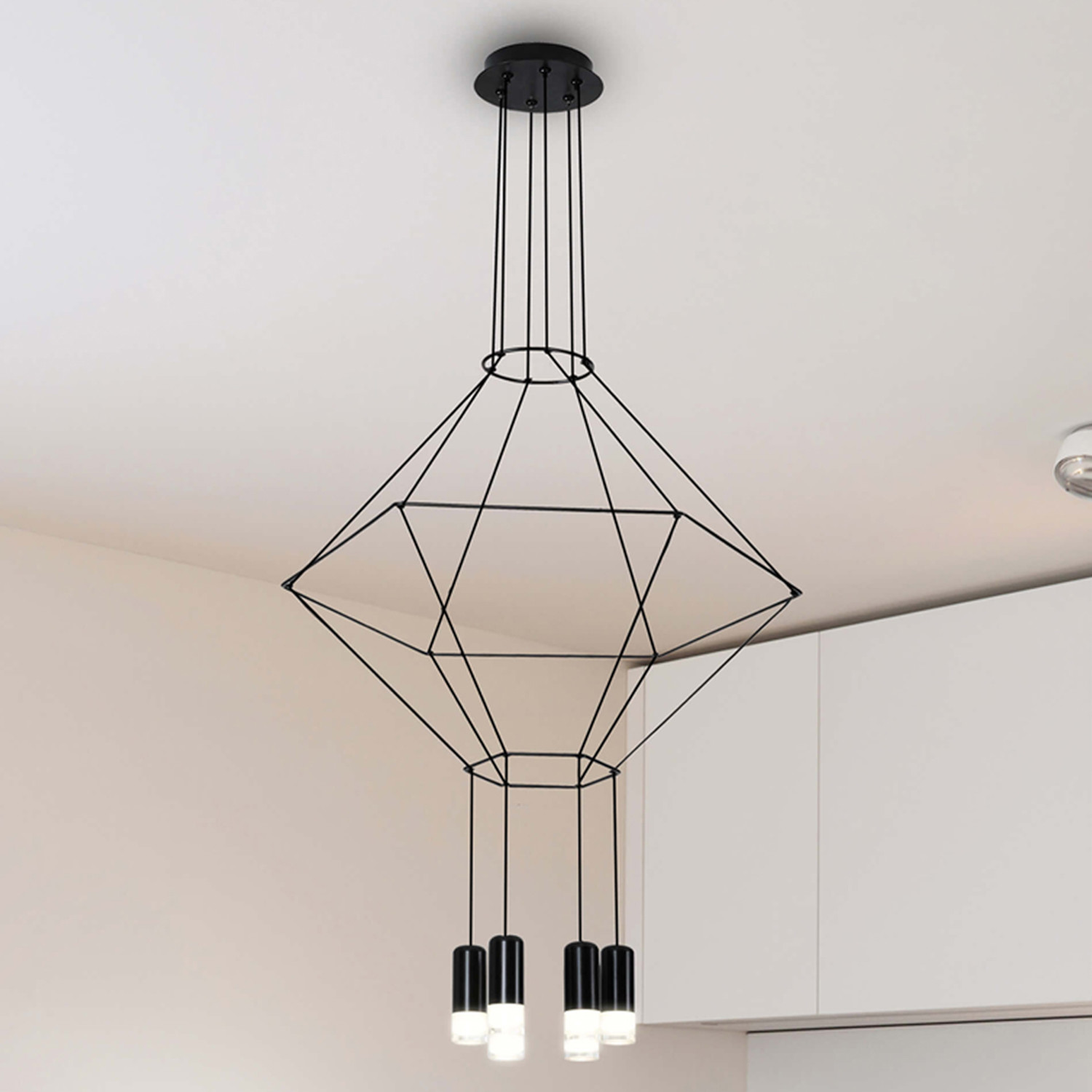 Led Chandelier Expression Series Geometric Led Chandelier 27