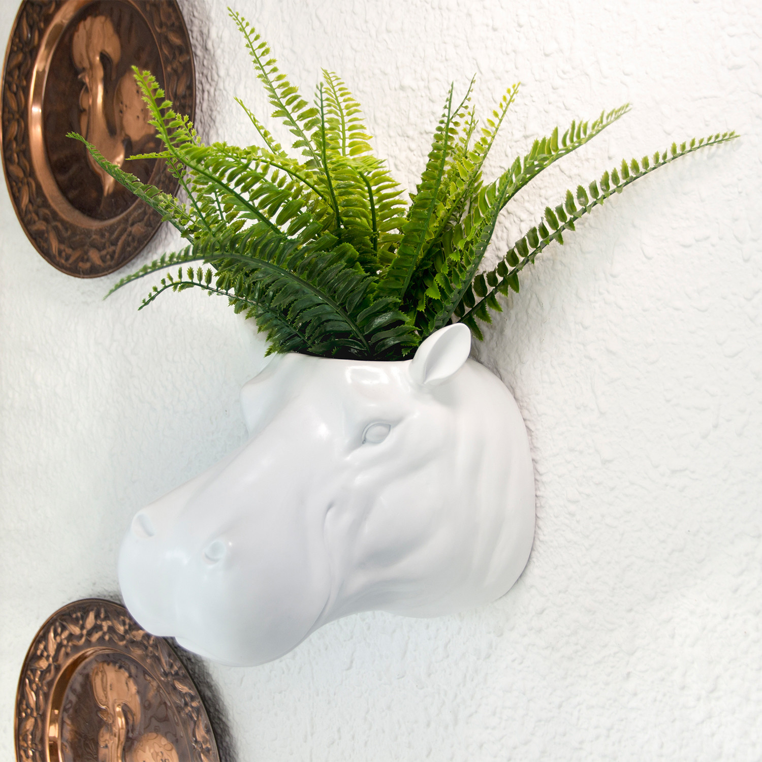 White Flower Pots For Sale 2 In 1 White Hippo Flower Pot Wall Hanging Plant Pot
